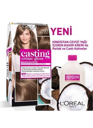L'Oréal Paris L'Oréal Paris Casting Crème Gloss Saç Boyası - 613 Sütlü Kahve Renkli